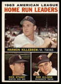 1964 Topps #10 Harmon Killebrew/Dick Stuart/Bob Allison AL Home Run Leaders EX Excellent