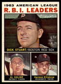 1964 Topps #12 Dick Stuart/Al Kaline/Harmon Killebrew AL R.B.I. Leaders EX/NM