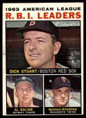 1964 Topps #12 Dick Stuart/Al Kaline/Harmon Killebrew AL R.B.I. Leaders EX Excellent