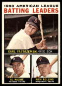 1964 Topps #8 Carl Yastrzemski/Al Kaline/Rich Rollins AL Batting Leaders EX++ Excellent++