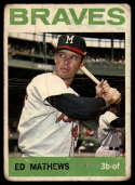 1964 Topps #35 Eddie Mathews G Good