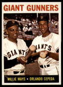 1964 Topps #306 Willie Mays/Orlando Cepeda Giant Gunners VG Very Good