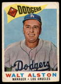 1960 Topps #212 Walt Alston MG G/VG Good/Very Good