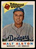 1960 Topps #212 Walt Alston MG G Good