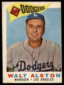1960 Topps #212 Walt Alston MG VG/EX Very Good/Excellent