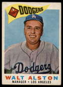 1960 Topps #212 Walt Alston MG VG Very Good