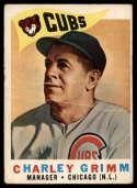1960 Topps #217 Charlie Grimm MG G Good