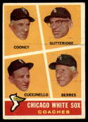 1960 Topps #458 White Sox Coaches VG Very Good