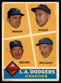 1960 Topps #463 Dodgers Coaches VG Very Good