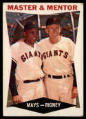 1960 Topps #7 Willie Mays/Bill Rigney Master and Mentor VG/EX Very Good/Excellent