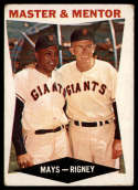 1960 Topps #7 Willie Mays/Bill Rigney Master and Mentor VG Very Good