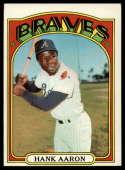 1972 Topps #299 Hank Aaron EX Excellent