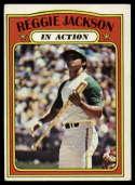 1972 Topps #436 Reggie Jackson IA EX Excellent