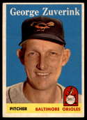 1958 Topps #6 George Zuverink EX Excellent