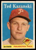 1958 Topps #36 Ted Kazanski EX/NM