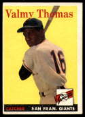 1958 Topps #86 Valmy Thomas EX Excellent RC Rookie