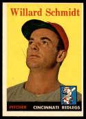 1958 Topps #214 Willard Schmidt EX/NM