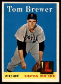 1958 Topps #220 Tom Brewer UER EX/NM