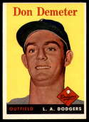1958 Topps #244 Don Demeter EX++ Excellent++ RC Rookie