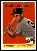 1958 Topps #263 Eddie Bressoud EX/NM RC Rookie