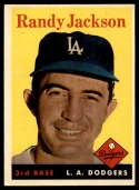1958 Topps #301 Randy Jackson EX++ Excellent++