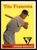 1958 Topps #316 Tito Francona EX Excellent