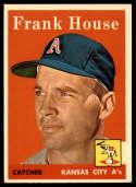 1958 Topps #318 Frank House EX/NM