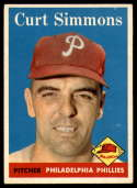 1958 Topps #404 Curt Simmons EX/NM