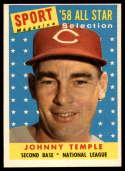 1958 Topps #478 Johnny Temple UER AS EX++ Excellent++
