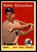 1958 Topps #101 Bobby Richardson EX Excellent