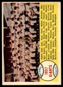 1958 Topps #19 Giants Team Checklist 1-88 EX/NM