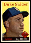 1958 Topps #88 Duke Snider EX Excellent