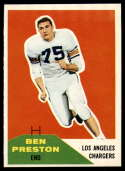 1960 Fleer #8 Ben Preston EX/NM
