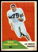 1960 Fleer #8 Ben Preston EX Excellent