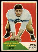 1960 Fleer #15 Serafino Fazio VG/EX Very Good/Excellent RC Rookie