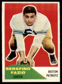 1960 Fleer #15 Serafino Fazio NM Near Mint RC Rookie