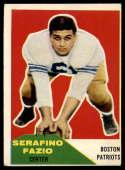 1960 Fleer #15 Serafino Fazio VG Very Good RC Rookie