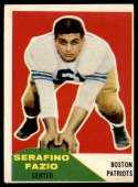 1960 Fleer #15 Serafino Fazio VG/EX Very Good/Excellent RC Rookie