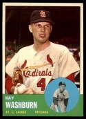 1963 Topps #206 Ray Washburn G Good