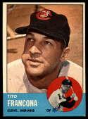 1963 Topps #248 Tito Francona G Good mark