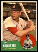 1963 Topps #267 Carl Sawatski G Good mark