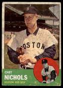 1963 Topps #307 Chet Nichols G Good