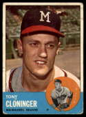 1963 Topps #367 Tony Cloninger G Good