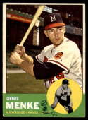 1963 Topps #433 Denis Menke G Good mark
