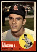 1963 Topps #49 Dal Maxvill G Good RC Rookie