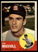 1963 Topps #49 Dal Maxvill G Good mark RC Rookie