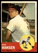 1963 Topps #88 Ron Hansen G Good mark
