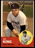 1963 Topps #176 Jim King G Good mark