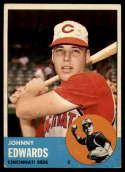 1963 Topps #178 Johnny Edwards G Good mark