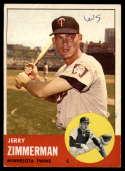 1963 Topps #186 Jerry Zimmerman G Good mark